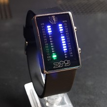 Detective conan 17th black LED watch