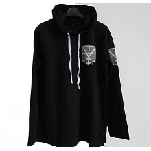 Attack on Titan black long sleeve hoodie