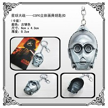 Star Wars C3PO mask key chain