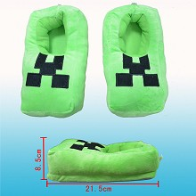 Minecraft plush slipper