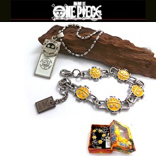 One piece law bracelet+necklace