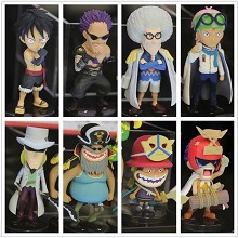 One piece figures set(8pcs a set)