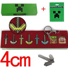 Minecraft key chains(8pcs a set)
