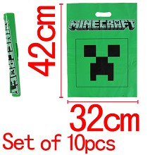 Minecraft shopping bags(10pcs)
