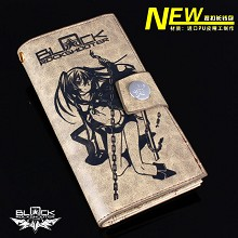 Black rock shooter PU wallet