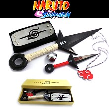 Naruto cos weapons + necklace+ring+headband(5pcs a set)