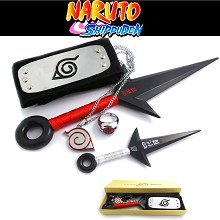 Naruto cos weapons + necklace+ring+headband(5pcs a...
