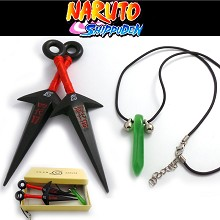 Naruto cos weapons + necklace