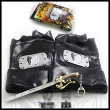 Attack on Titan gloves+key chain