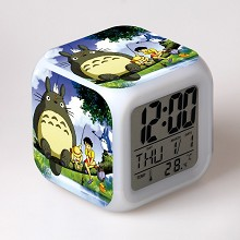 Totoro multi-color clock