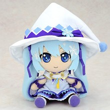 12inches snow Hatsune Miku plush doll