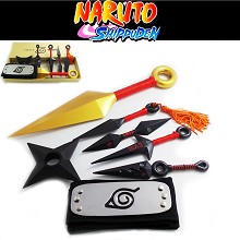Naruto cos headband+6pcs weapons a set