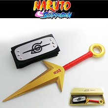 Naruto cos headband+weapon