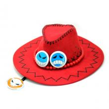 One Piece Ace cosplay hat(red)