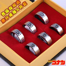Detective conan 18th rings(6pcs a set)
