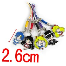 Sailor Moon phone straps(5pcs a set)