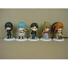 Gintama figures set(5pcs a set)