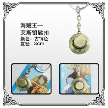 One Piece ace key chain
