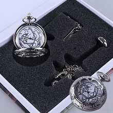 Fullmetal Alchemist pocket wath+necklace+ring
