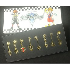 Kingdom of Hearts key chains set