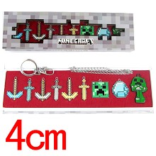 Minecraft key chians a set