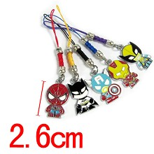 The Avengers phone straps set