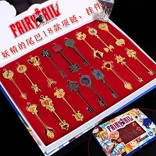 Fairy Tail cos key chains set(18pcs a set)