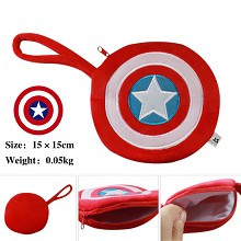 Captain America plush change purse or zero wallet