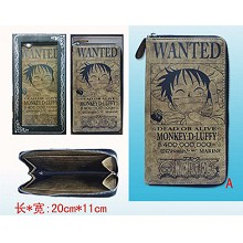One Piece Luffy pu wallet