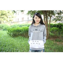 Totoro thick cotton long sleeve hoodie