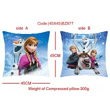 Frozen two-sided pillow(45X45)BZ877