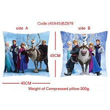 Frozen two-sided pillow(45X45)BZ878