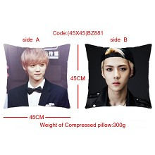 EXO star two-sided pillow(45X45)BZ881