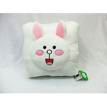 The rabbit plush warm hand pillow