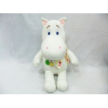 14inches hippo plush doll(white)