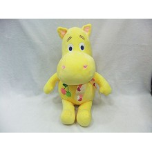 14inches hippo plush doll(yellow)