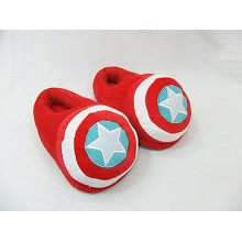Captain America plush slippers/shoes a pair