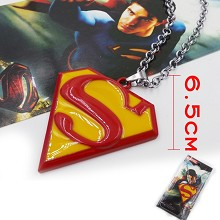 Super man necklace