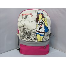 Fashion girl pu backpack bag