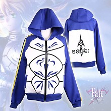 Fate stay night sabert thick hoodie cloth