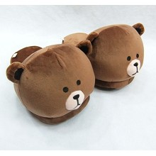 12inches LINE bear plush slipper shoes a pair