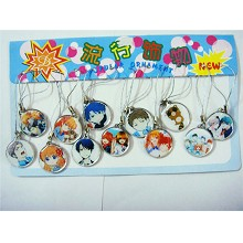 The anime phone straps set(12pcs a set)