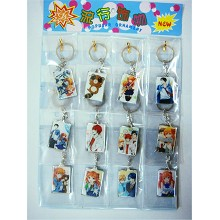 The anime key chain set(12pcs a set)