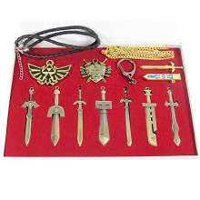 Zelda key chains set(10pcs a set)