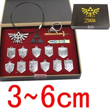 Zelda key chains set(14pcs a set)