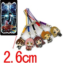 Guilty Crown phone straps set