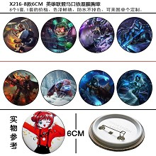 League of Legends pins brooches set(8pcs a set)X21...