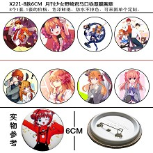 Nozakikun pins brooches set(8pcs a set)X221