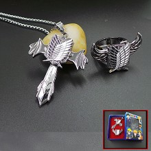 Attack on Titan necklace+ring