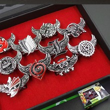The anime rings set(10pcs a set)